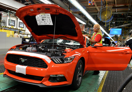 Produktion des Ford Mustang.