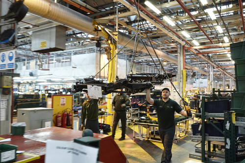 Produktion des Land Rover Defender in Solihull.