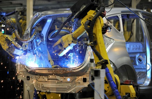 Produktion des Nissan Note.