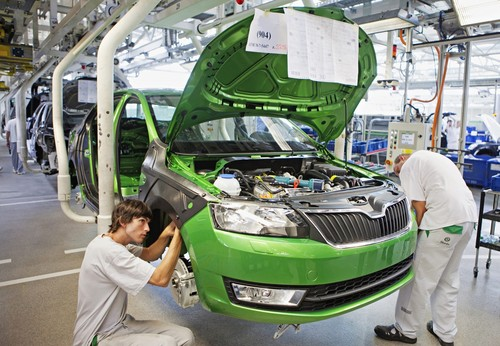 Produktion des Škoda Rapid.