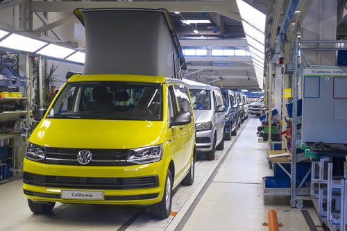 Produktion des Volkswagen California.
