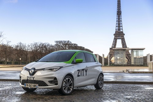 Renault Zoe des E-Carsharingdienstes Zity in Paris.