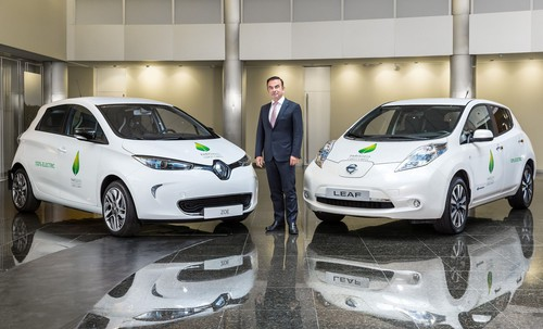Renault Zoe, Nissan Leaf,  Carlos Ghosn, Präsident und Chief Executive Officer Renault.
