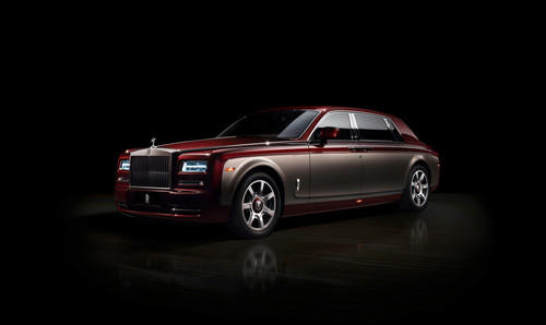 Rolls-Royce Phantom Bespoke Pinnacle Travel Collection Car.