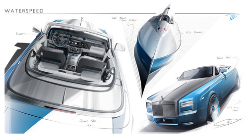 Rolls-Royce Phantom Drophead Coupé Bespoke Waterspeed Collection.