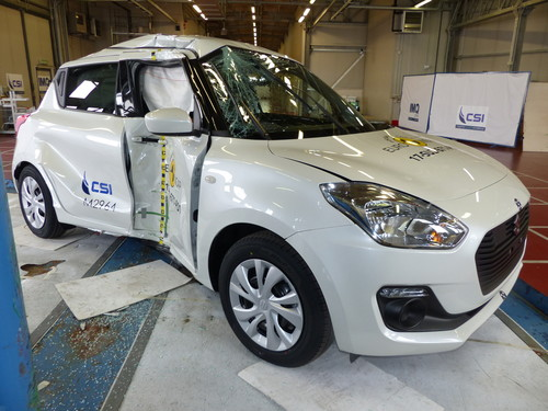 Suzuki Swift im Euro-NCAP-Crashtest.