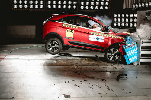 Tata Nexon im Global-NCAP-Crashtest.