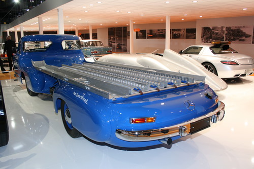 Techno-Classica 2014: Mercedes-Benz-Renntransporter.