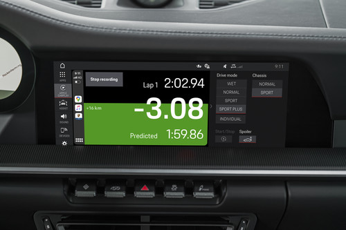Track-Precision-App von Porsche per Apple Carplay