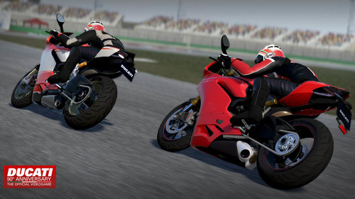 "Videospiel ""Ducati - 90th Anniversary The Official Videogame""."