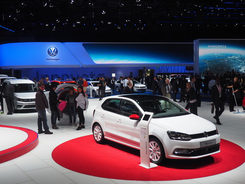 Volkswagen-Messestand in Genf.