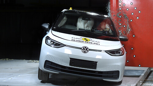 VW ID 3 im Euro-NCAP-Crashtest.