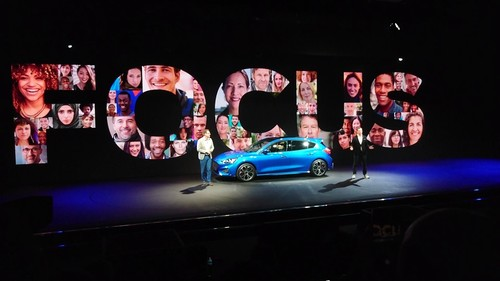 Weltpremiere des Ford Focus in London.