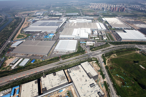 Werk der Beijing Benz Automotive Co. (BBAC) in China.