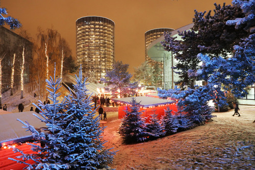Winter-Wunderwelt in der Autostadt.