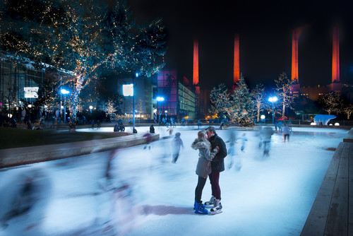 Winterwelt in der Autostadt.