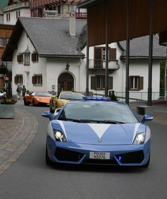 Lamborghini Gallardo der italienischen Polizia di Stato.