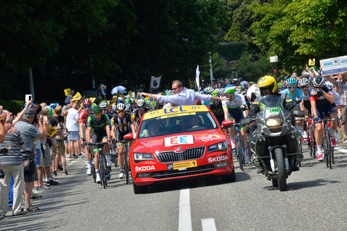 Skoda Superb als Red Car bei der Tour de France 2015.