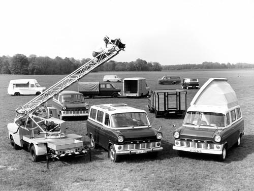 Ford Transit-Historie: Viefalt schon in den Anfangsjahren.