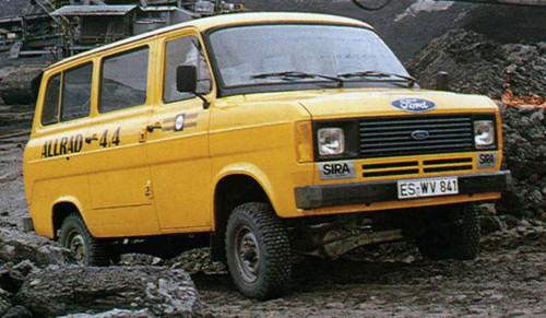Ford Transit-Historie: Die Modelle der dritten Generation waren auch als 4x4-Umbau erhältlich.