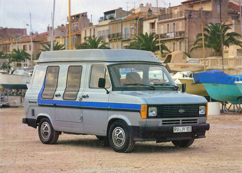 Ford Transit-Historie. Frord Transit als Hymer-Van.