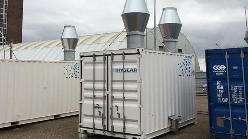 Die kompakte Anlage von Hygear wandelt Diesel und Biodiesel in Wasserstoff um.