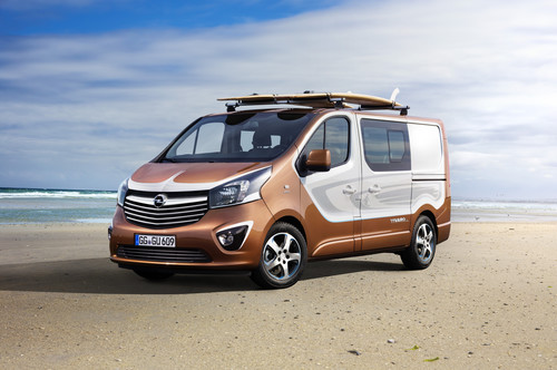 iaa 2015 opel vivaro surf concept f r freizeitaktivit ten auto medienportal net. Black Bedroom Furniture Sets. Home Design Ideas