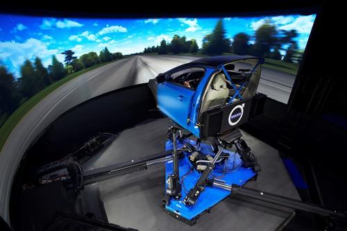 Volvo-Fahrwerksimulator.