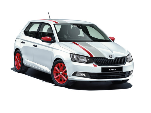 Skoda Fabia Cool Edition Red & Grey.