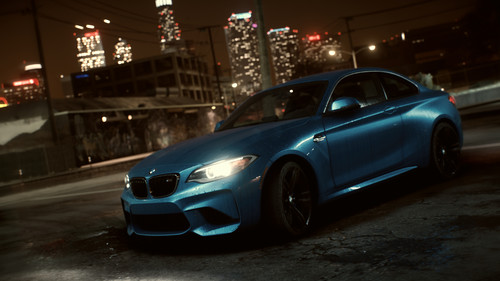 "BMW M2 Coupé im Spiel ""Need for Speed""."