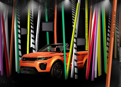 Range Rover Evoque Cabriolet im Pop-up-Store.