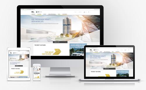 Neuer Webauftritt der BMW Group.