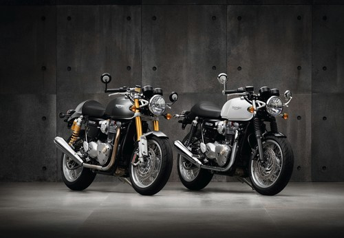 Triumph Thruxton 1200 (links: Thruxton R).