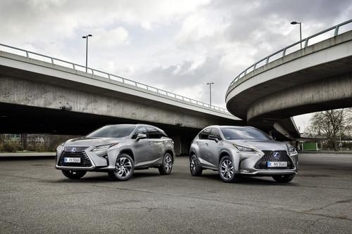 Lexus RX und NX (r.).