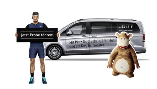 Mercedes benz startet v klasse kampagne auto for Roger federer mercedes benz contract
