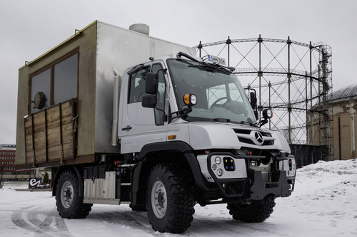 Mercedes-Benz Unimog Footrúck.