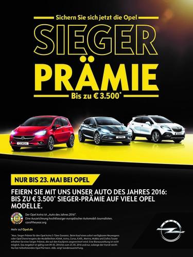 """""""Sieger""""-Prämie bei Opel."""