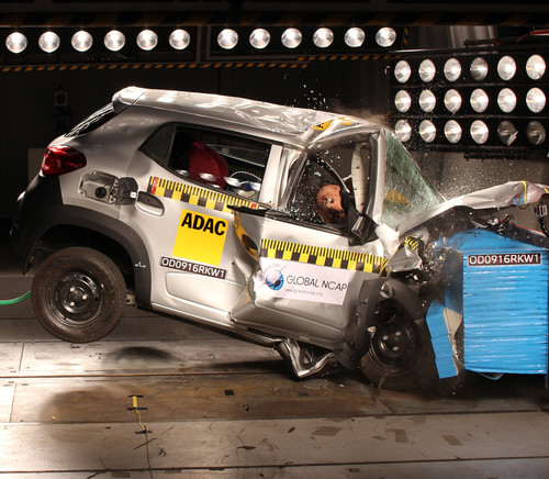 Renault Kwid I im Global-NCAP-Crashtest.