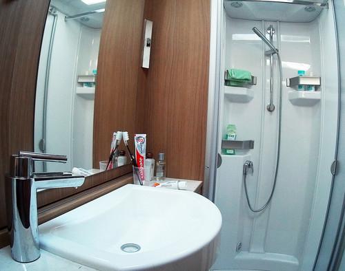 Badezimmer vom Dethleffs 4-Travel. Foto: Axel F. Busse