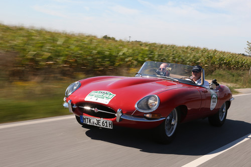Hamburg-Berlin-Klassik 2016: Jaguar E-Type (1961).