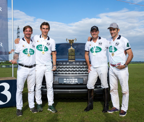 "Das Land-Rover-Polo-Team um Kapitän Heino Ferch (2.v.r) hat die ""German Polo Tour 2016"" gewonnen."