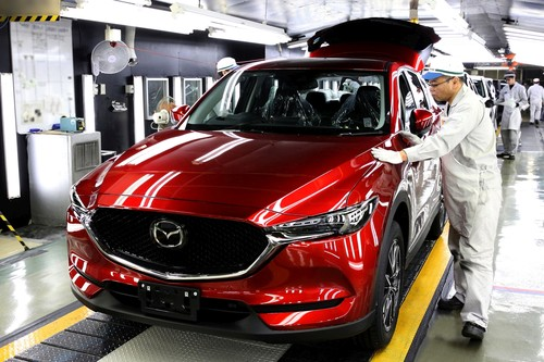Produktion des Mazda CX-5.