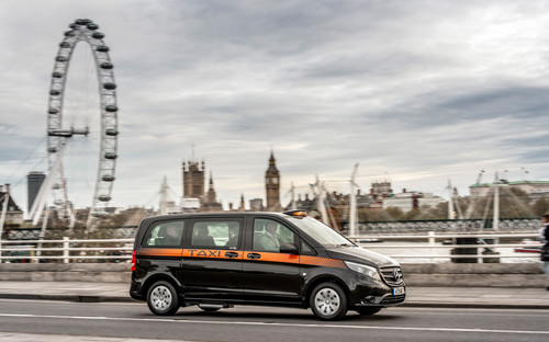 Mercedes-Benz Vito als London-Taxi.