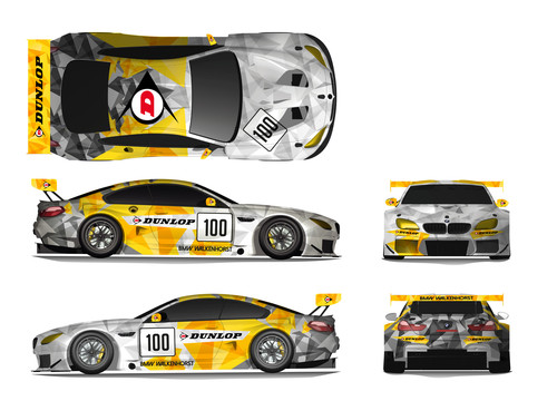 Dunlop Art Car BMW M6 GT3.