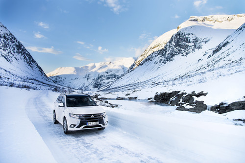 Zum Artikel Mitsubishi Plug-in Hybrid Outlander in Norwegen ein Renner