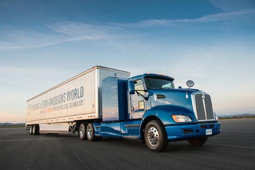 Toyota baut Brennstoffzellen-Lkw: Wasserstoff-Antrieb
