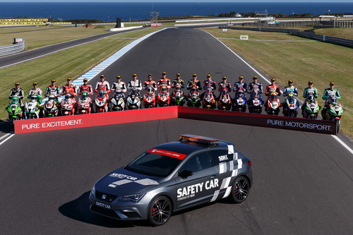 "Seat León Cupra als Safety-Car der ""WorldSBK"" 2017."