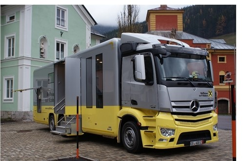 Mercedes-Benz Antos als mobile Bankfiliale.