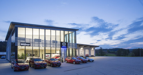 Mazda-Autohaus Mößner in Hechlingen am See.