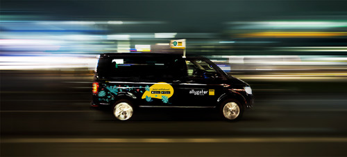On-demand-Shuttle Allygator in Berlin.